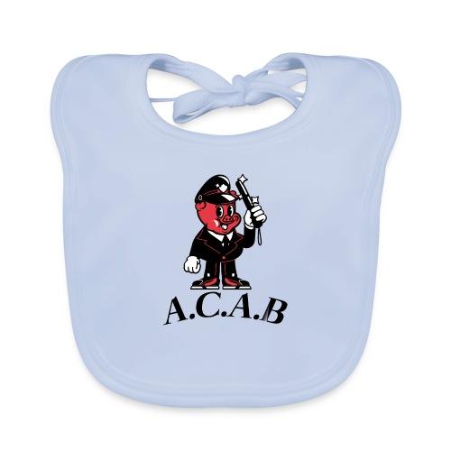 A.C.A.B cochon - Bavoir bio Bébé