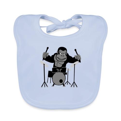 Drumming Gorilla - Organic Baby Bibs