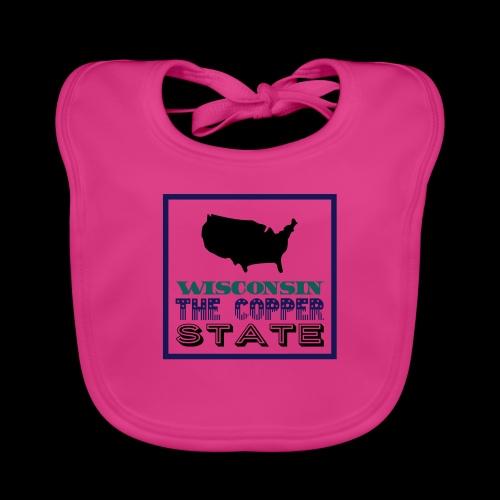 WISCONSIN THE COPPER STAT - Baby Organic Bib