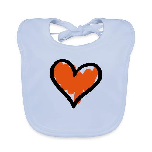 Heart Symbol Pixellamb - Baby Bio-Lätzchen