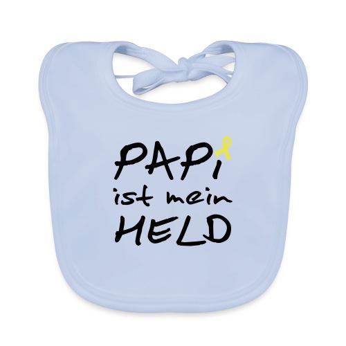 Papi ist mein Held mit Schleife - Baby Bio-Lätzchen