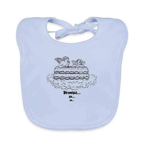 Tiramisù - tinte chiare - Bavaglino ecologico per neonato