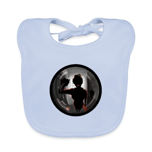 AZAFATA DEL MALETIN ROJO - Babero de algodón orgánico para bebés