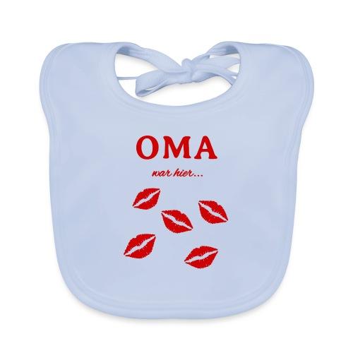 Oma war hier lustiges Oma Baby und Kinder Design - Baby Bio-Lätzchen