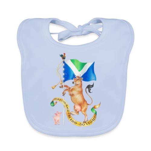Vegan flag design by Maria Tiqwah - Organic Baby Bibs