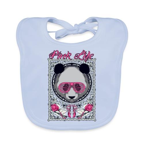 Pink Life - Babero de algodón orgánico para bebés
