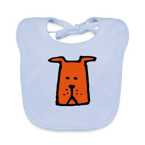 süßer Hund - Design - Geschenk für Kinder - Comic - Baby Bio-Lätzchen