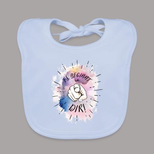shirt bunt tshirt druck - Baby Bio-Lätzchen