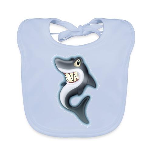 Cartoon Shark - Baby Organic Bib