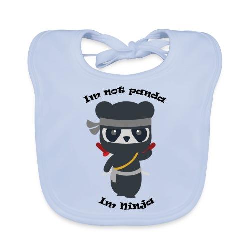 Non sono un Panda - Bavaglino ecologico per neonato