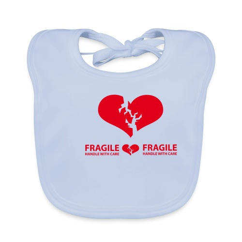 I am FRAGILE - Handle with care! - Ekologisk babyhaklapp