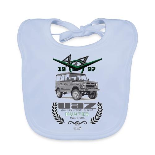 UAZ Hunter 1997 - Babero de algodón orgánico para bebés