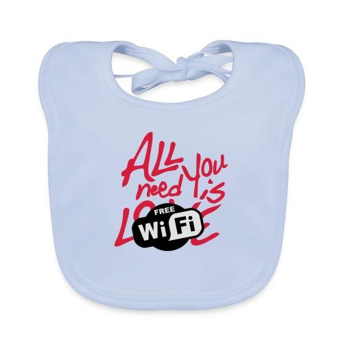 all you need is free WiFi - Babero ecológico bebé