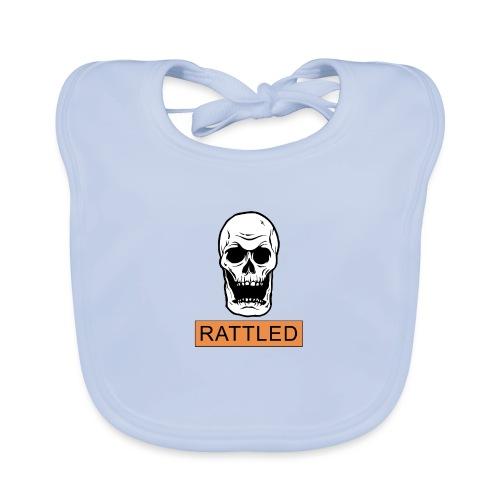 Rattled Spooky Halloween Skeleton Meme - Baby Organic Bib