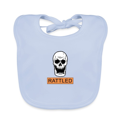 Rattled Spooky Halloween Skeleton Meme - Organic Baby Bibs
