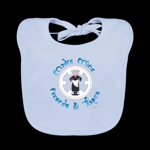 PC34 - madre mine records tapes la señora arcos - Babero de algodón orgánico para bebés