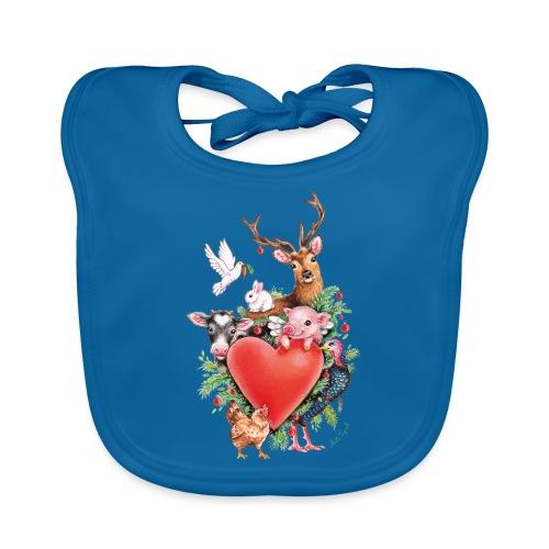 Christmas heart by Maria Tiqwah - Organic Baby Bibs