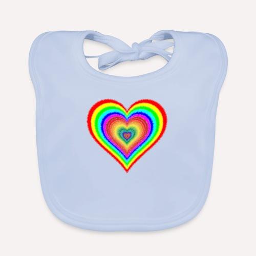 Heart In Hearts Print Design on T-shirt Apparel - Organic Baby Bibs