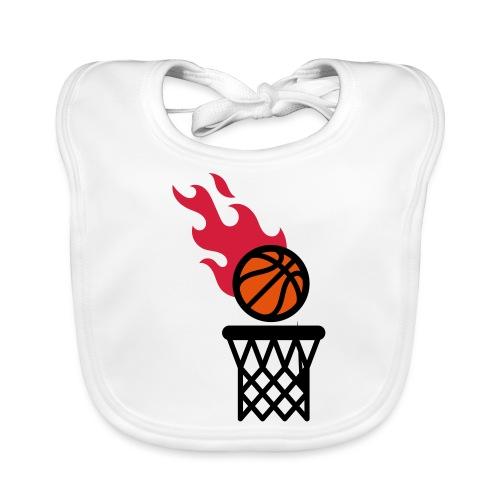 fire basketball - Organic Baby Bibs
