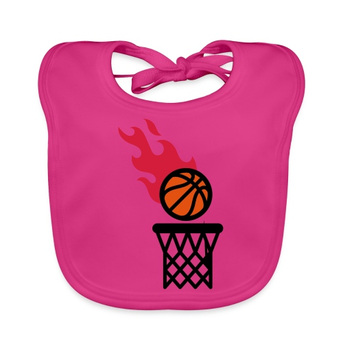 fire basketball - Baby Organic Bib
