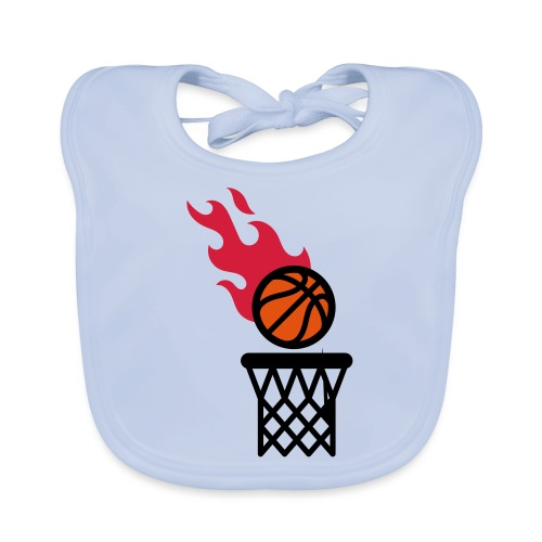 fire basketball - Organic Baby Bibs