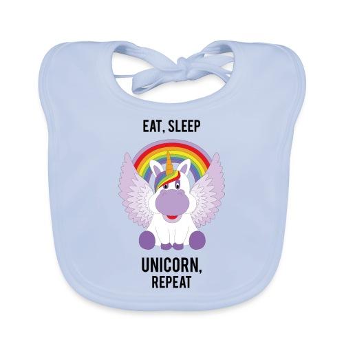 Eat, sleep, unicorn, repeat - Bio-slabbetje voor baby's