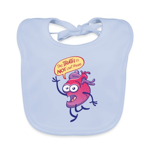 Heart claiming the truth is not up there - Organic Baby Bibs