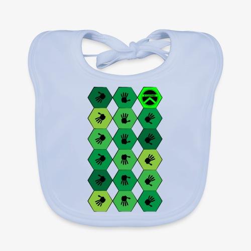 |K·CLOTHES| HEXAGON ESSENCE GREENS - Babero de algodón orgánico para bebés