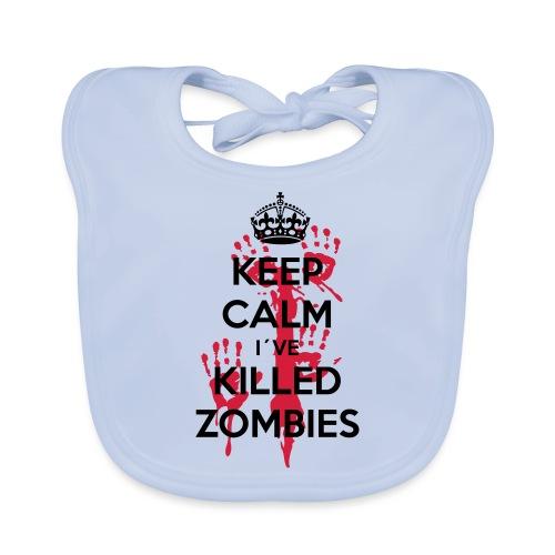keep calm i have killed zombies - Baby Bio-Lätzchen