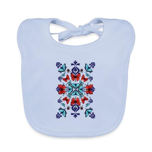 Mix di farfalle - Bavaglino ecologico per neonato