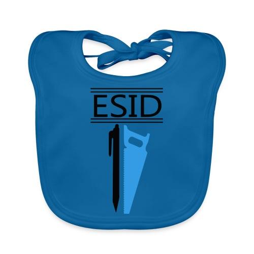 ESID Zwart-blauw - Bio-slabbetje voor baby's