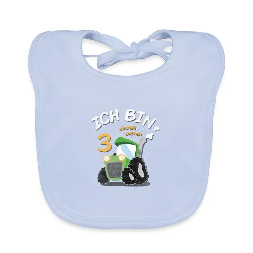 Kinder 3. Geburtstags Traktor Junge Shirt - Baby Bio-Lätzchen