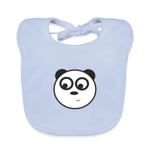 panda face /cara de panda - Babero de algodón orgánico para bebés