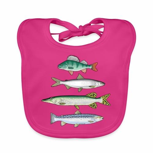 FOUR FISH - Ahven, siika, hauki ja taimen tuotteet - Vauvan ruokalappu
