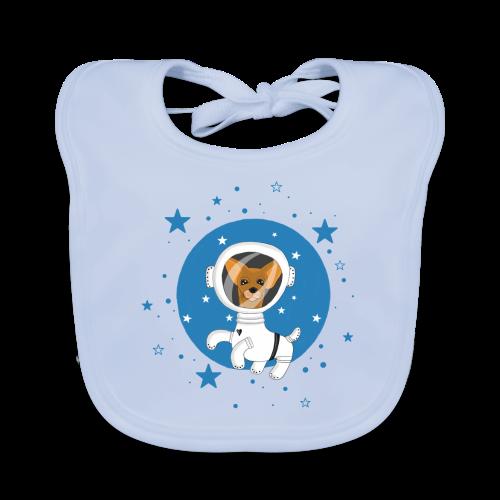 Kleiner Hund im Weltall - Baby Bio-Lätzchen