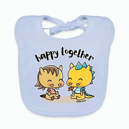 Happy Together - Pferd und Drache - Baby Bio-Lätzchen