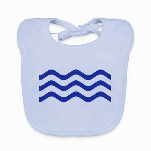Zeeuwse golf - cadeau voor Zeeuwen en Zeeland fans - Bio-slabbetje voor baby's