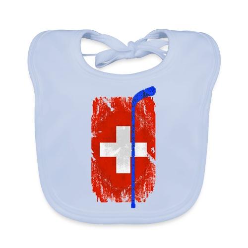 Schweizer Flagge Hockey - Baby Bio-Lätzchen