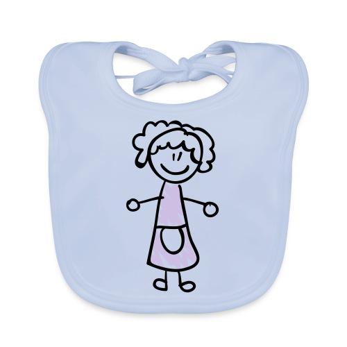 Mother Line Drawing Pixellamb - Baby Bio-Lätzchen