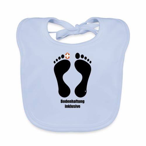 Barfuss-Logo Bodenhaftung - Baby Bio-Lätzchen