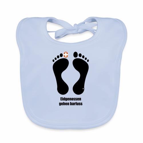 Barfuss-Logo Eidgenossen - Baby Bio-Lätzchen