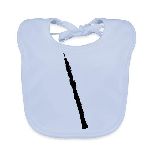 Oboe en sombra negro - Babero de algodón orgánico para bebés