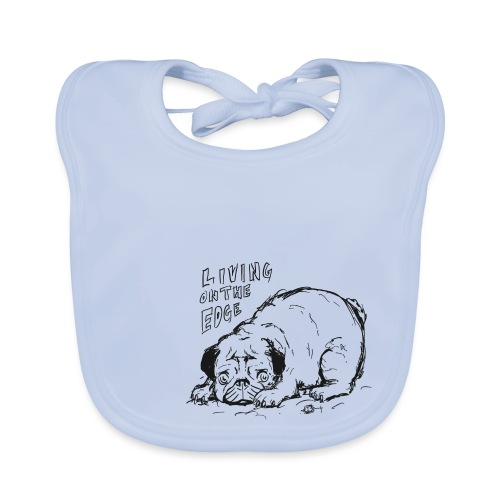 Living on the edge BLACK - Baby Organic Bib