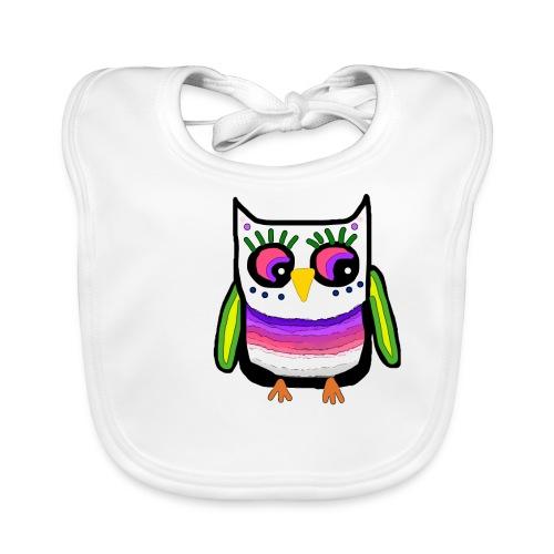 Colorful owl - Baby Organic Bib