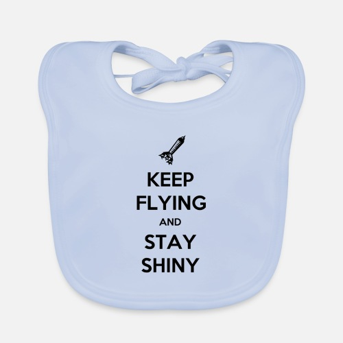Keep Flying and Stay Shiny - Bio-slabbetje voor baby's
