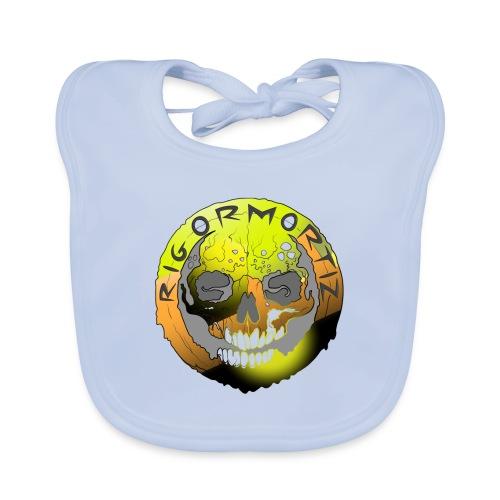 Rigormortiz Metallic Yellow Orange Design - Organic Baby Bibs