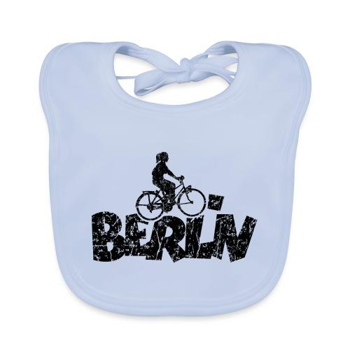 Berlin Fahrrad (Vintage/Schwarz) Fahrradfahrerin - Baby Bio-Lätzchen