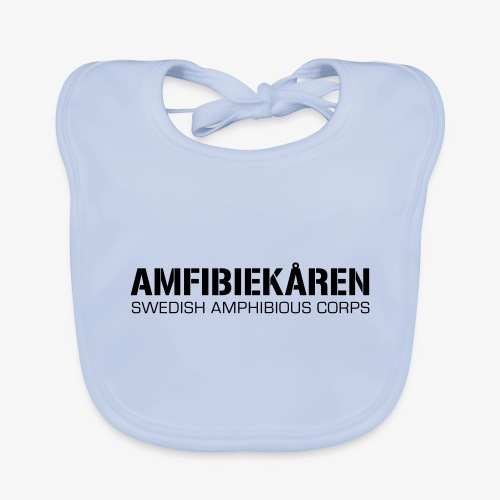 Amfibiekåren -Swedish Amphibious Corps - Ekologisk babyhaklapp