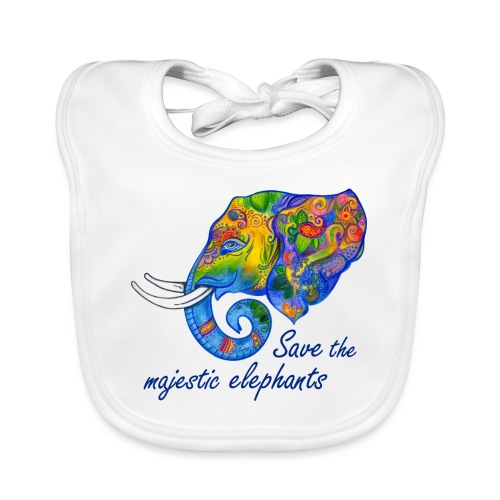 Save the majestic elephants - Baby Bio-Lätzchen