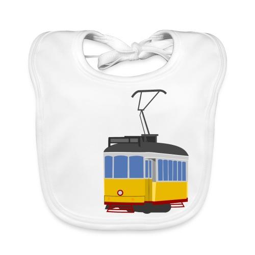 Tram car yellow - Baby Organic Bib